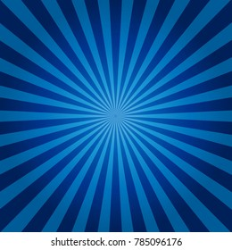 blue and black Sunburst Pattern. Sunburst background. Vector illustration.