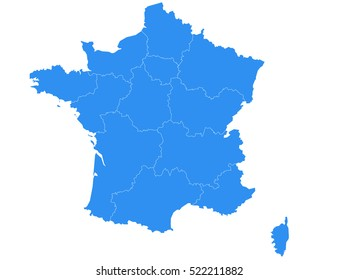 France Map Images, Stock Photos & Vectors | Shutterstock