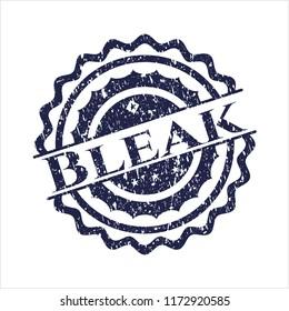 Blue Bleak distressed rubber grunge texture seal