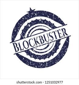 Blue Blockbuster rubber grunge texture stamp
