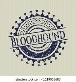 Blue Bloodhound distressed grunge seal