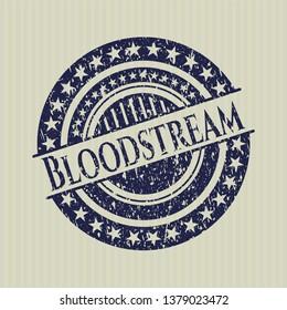 Blue Bloodstream grunge stamp