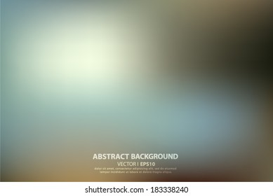Blue blurred abstract background. Vector EPS 10 illustration.