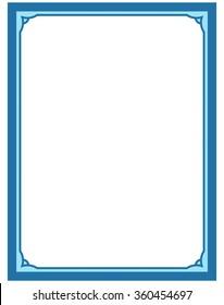 blue border frame deco vector label stock vector royalty free