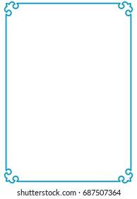 blue border frame vector vintage stock vector royalty free