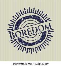 Blue Boredom distressed rubber grunge stamp