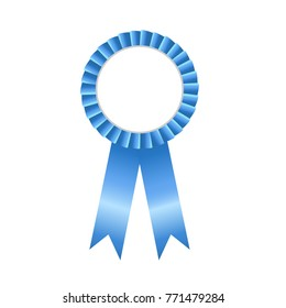Blue bow blank award ribbon rosettes ,illustration