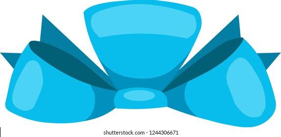 Blue bowknot, can be used for any kinds of decoration