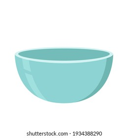 Blue Bowl. Bowl on white background. bowl vector.
