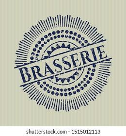 Blue Brasserie distress rubber grunge seal