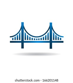 Blue Bridge Icon