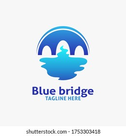 Blue bridge logo design inspiration