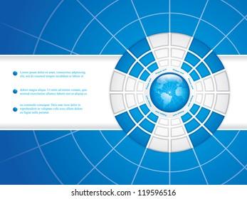 Blue brochure design vector
