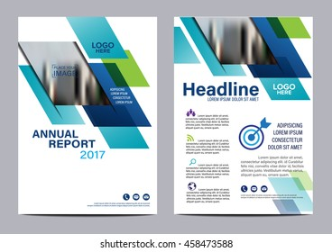 Blue Brochure Layout design template. Annual Report Flyer Leaflet cover Presentation Modern background. illustration vector in A4 size