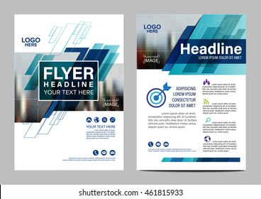 Blue Brochure Layout design template. Annual Report Flyer Leaflet cover Presentation Modern background. illustration vector in A4 size