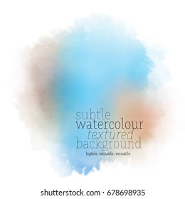 blue brown watercolor