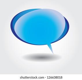 Blue bubble dialog cloud vector