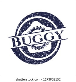 Blue Buggy rubber grunge texture seal