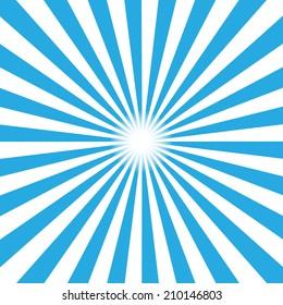 Blue burst background. Vector illustration