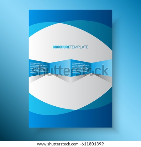 Blue Business Annual Report Template Print Stock Vector (Royalty