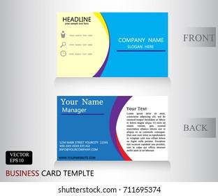 blue business banner name card design vector