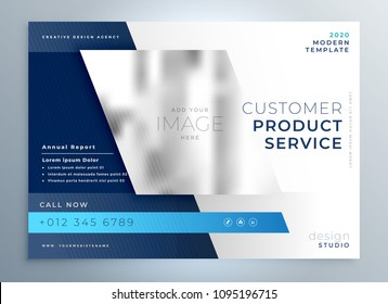 blue business brochure presentation template color design