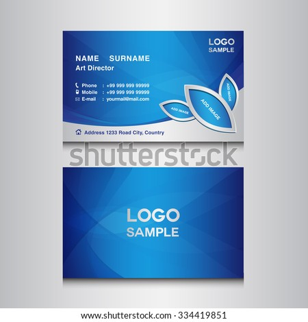 blue business card design template vector stock vector royalty free
