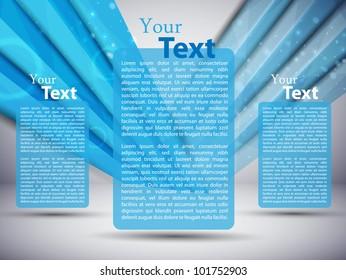 blue business card. vector illustration