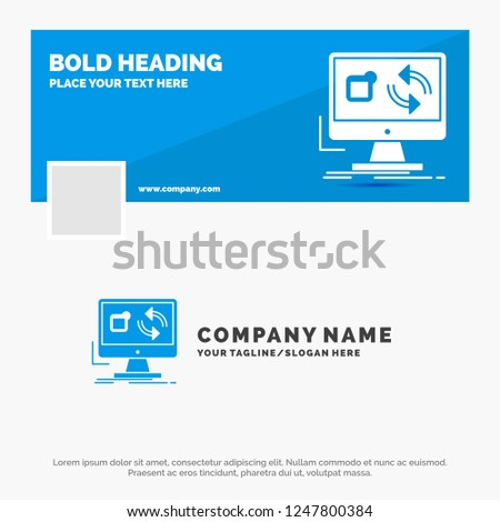 blue business logo template update app stock vector royalty free