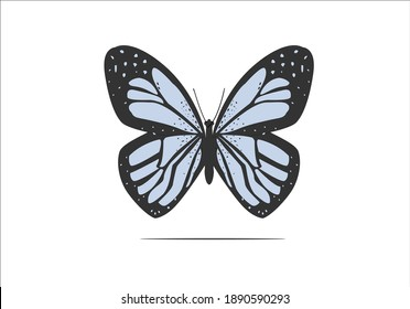 blue butterfly butterflies and daisies positive quote flower design margarita  mariposa stationery,mug,t shirt,phone case fashion slogan  style spring summer sticker and etc fashion design Swallow