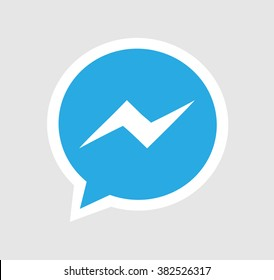 Blue Button Facebook messenger Icon Vector Background, JPG JPEG,EPS Logo design yes Download Face book Social media