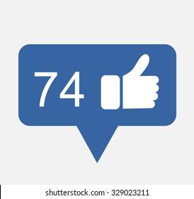 Blue Button Hand Like Icon Vector Background, JPG JPEG,EPS Logo design yes Download Social media