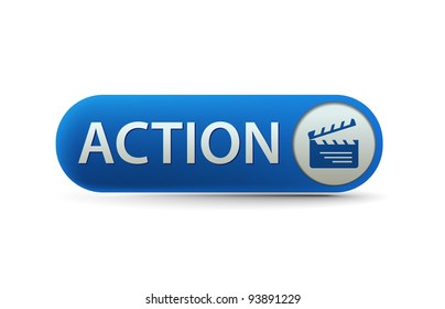A blue button with the words action.