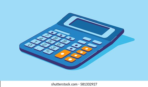 Blue Calculator Flat design icon
