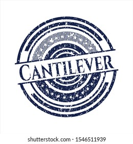 Blue Cantilever distress grunge style stamp