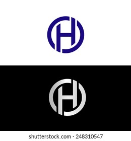 Blue capital letter H placed in circle