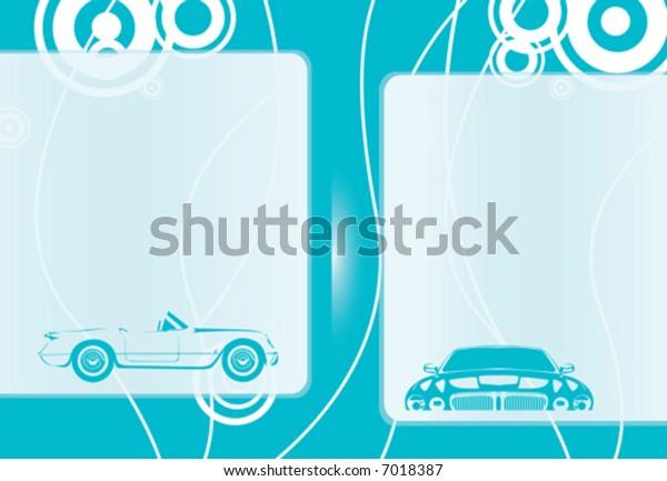 Blue car background