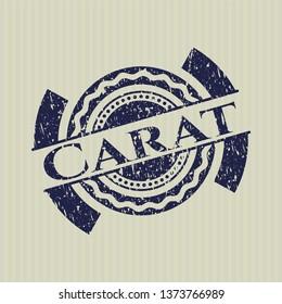 Blue Carat distressed grunge style stamp
