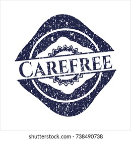 Blue Carefree distress rubber seal