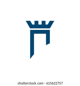 Blue Castle vector Logo Template Illustration Design. Vector EPS 10.