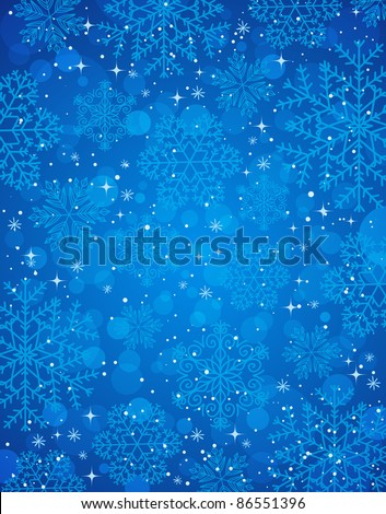 blue-christmas-background-snowflakes-vec