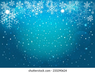 Blue Christmas background. Vector EPS10.