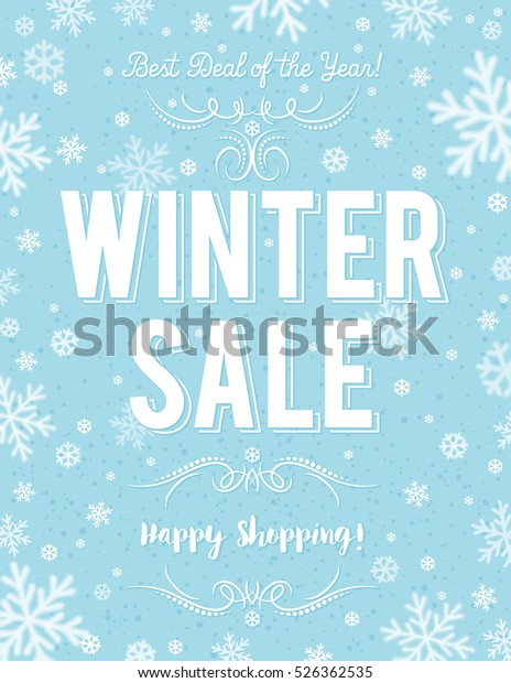 blue-christmas-poster-snowflakes-sale-60