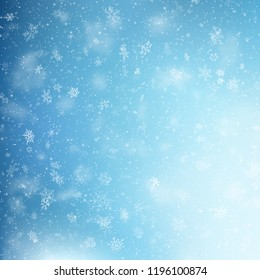 Blue Christmas snowflakes background. EPS 10