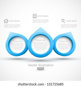 Blue circle banners 3D.