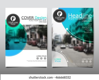 Blue circle cover business brochure vector design, Leaflet advertising abstract background, Modern poster magazine layout template, Annual report for presentation.