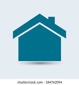 blue circle glossy web icon Home