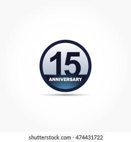 blue circle with number in it with some light effect for anniversary logo vector