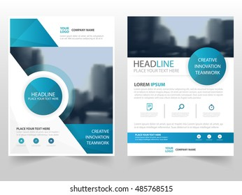 Blue circle technology business Brochure Leaflet Flyer annual report template design, book cover layout