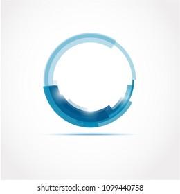 Blue circle. Vector illustration